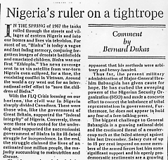Nigeria's ruler on a tightrope